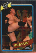 2008 WWE Heritage III Chrome Trading Cards Festus 19