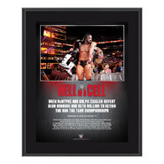 Dolph & Drew Hell in a Cell 2018 10 x 13 Commemorative Plaque