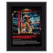Kofi Kingston WrestleMania 35 10 x 13 Commemorative Plaque