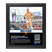 Mojo Rawley WrestleMania 33 15 x 17 Framed Plaque w Ring Canvas