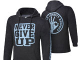 "John Cena ""Never Give Up"" Black Pullover Hoodie Sweatshirt"
