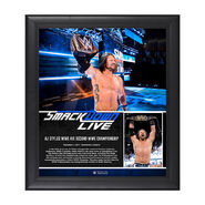 AJ Styles 2-Time Champion 15 x 17 Framed Plaque