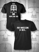 Mr. Anderson People Are Fake Mic Skull T-Shirt