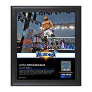 AJ Styles WrestleMania 33 15 x 17 Framed Plaque w Ring Canvas