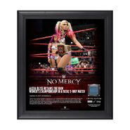 Alexa Bliss No Mercy 2017 15 x 17 Framed Plaque w Ring Canvas