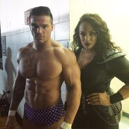 Hugo Knox and Nia Jax