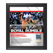 John Cena Royal Rumble 2017 15 x 17 Framed Plaque w Ring Canvas
