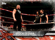 2017 WWE Road to WrestleMania Trading Cards (Topps) Brock Lesnar 20