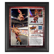 Charlotte Flair SummerSlam 2018 15 x 17 Framed Plaque w Ring Canvas
