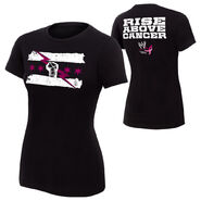 CM Punk Rise Above Cancer Black Women's Authentic T-Shirt
