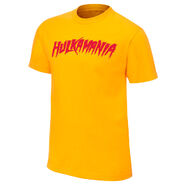 Hulk Hogan new Hulkamania Yellow T-Shirt