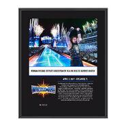 Roman Reigns WrestleMania 33 10 X 13 Commemorative Photo Plaque
