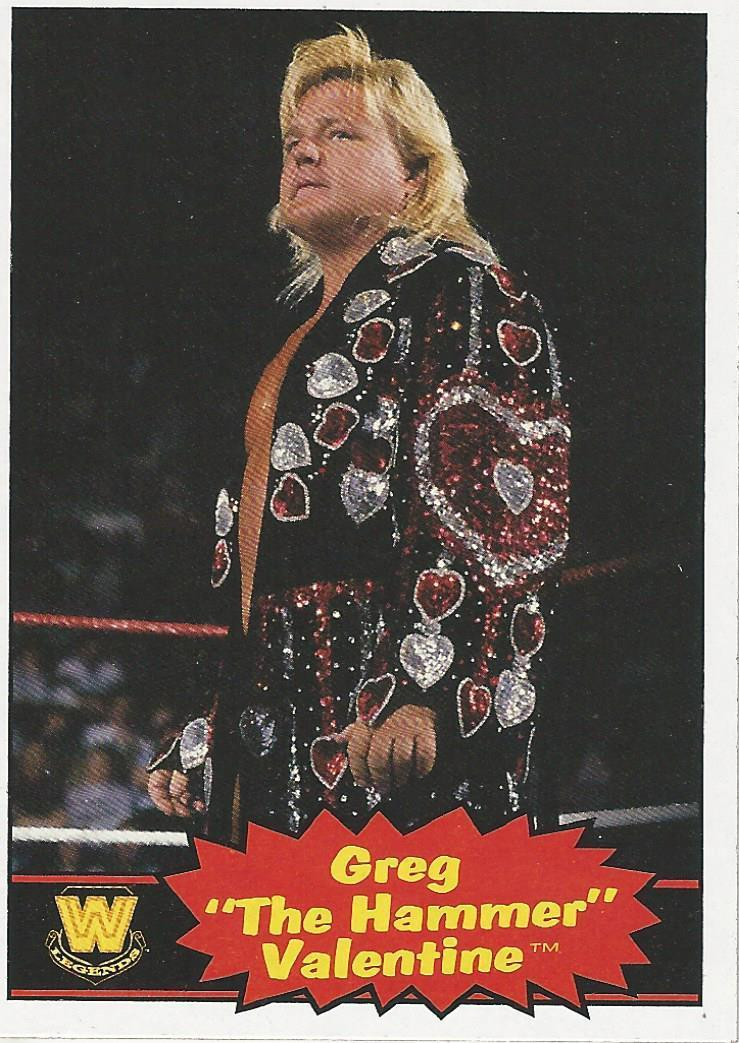 2012 Wwe Heritage Trading Cards Topps Greg Valentine No76 Pro