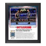 Chris Jercho and Randy Orton Battleground 2016 10 x 13 Commemorative Photo Plaque