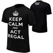 William Regal Keep Calm Black T-Shirt