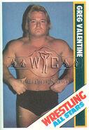1985 Wrestling All Stars Trading Cards Greg Valentine 25