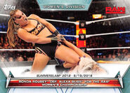 2019 WWE Women's Division (Topps) Ronda Rousey 82