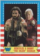 1987 WWF Wrestling Cards (Topps) Hercules & Bobby Heenan 9