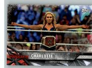 2017 WWE Road to WrestleMania Trading Cards (Topps) Charlotte 81