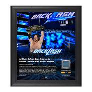 AJ Styles Backlash 2016 15 x 17 Framed Plaque w Ring Canvas