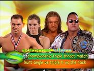 Kurt Angle vs. Triple H vs. The Rock Summerslam 2000