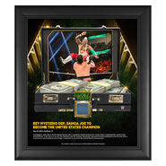 Rey Mysterio Money in The Bank 15 x 17 Frame w Ring Canvas