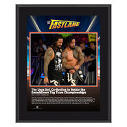 The Usos FastLane 2019 10 x 13 Commemorative Plaque