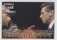2001 WWF RAW Is War (Fleer) Stone Cold Steve Austin vs. Vince McMahon 71