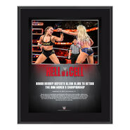 Ronda Rousey Hell in a Cell 2018 Commemorative Plaque
