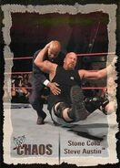 2004 WWE Chaos (Fleer) Stone Cold Steve Austin (No.1)