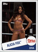 2015 WWE Heritage Wrestling Cards (Topps) Alicia Fox 54