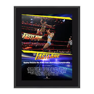 Bayley FastLane 2017 10 X 13 Commemorative Photo Plaque