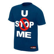 John Cena U Can't Stop Me Navy Authentic T-Shirt