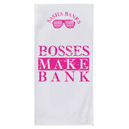 Sasha Banks Bosses Make Bank 30 x 60 Beach Towel