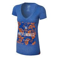 WrestleMania 33 Floral Women's V-Neck T-Shirt