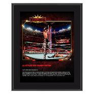 AJ Styles WrestleMania 35 10 x 13 Commemorative Plaque