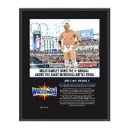Mojo Rawley WrestleMania 33 10 X 13 Commemorative Photo Plaque