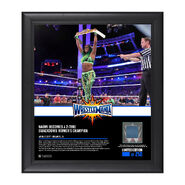 Naomi WrestleMania 33 15 x 17 Framed Plaque w Ring Canvas