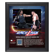 Roman Reigns BackLash 2018 15 x 17 Framed Plaque w Ring Canvas