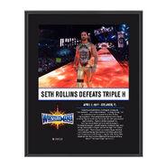 Seth Rollins WrestleMania 33 10 X 13 Commemorative Photo Plaque