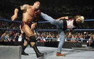 Smackdown 4-25-08 Michaels interferes Batista