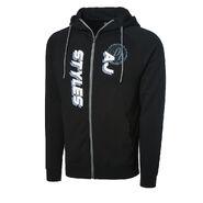 AJ Styles The Untouchable One Full Zip Hoodie Sweatshirt