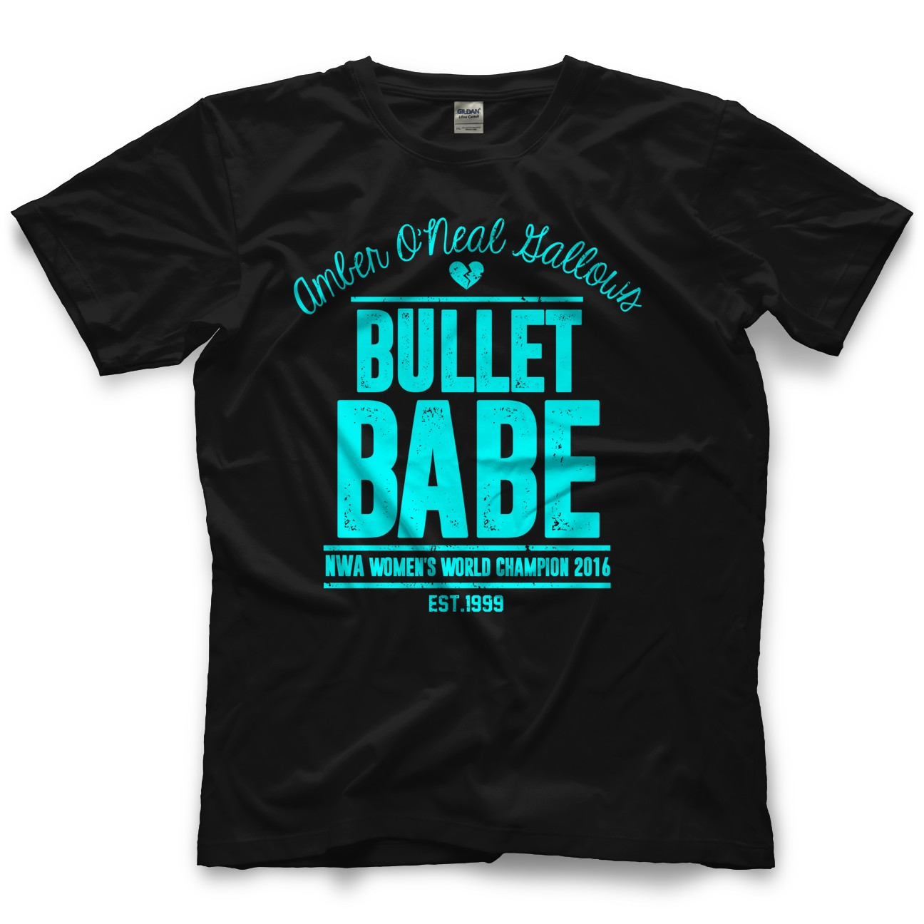 Amber O Neal amber o'neal bullet babe retro guys shirt | pro wrestling
