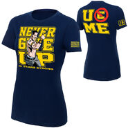 John Cena 10 Years Strong Authentic women's T-Shirt