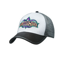 WrestleMania 34 White & Grey Logo Baseball Hat