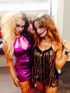Raquel Diaz and Sasha Banks 2013 NXT Halloween
