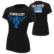The Rock SmackDown Women's Authentic T-Shirt