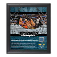 Nikki Bella & Natalya Elimination Chamber 2017 15 x 17 Framed Plaque w Ring Canvas