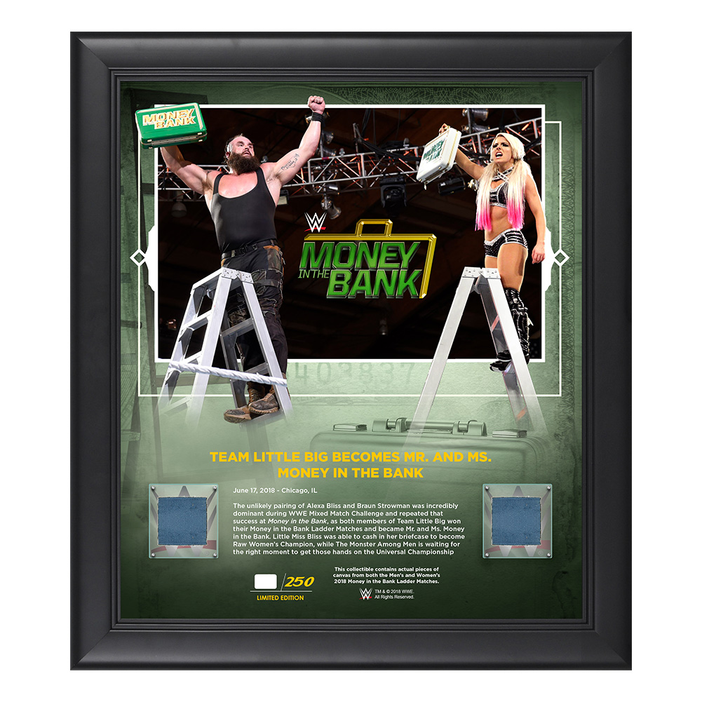 WWE Authentic Wear The IIconics Wrestlemania 35 10 x 13 Commemorative Plaque