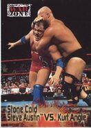 2001 WWF RAW Is War (Fleer) Stone Cold Steve Austin vs. Kurt Angle 81